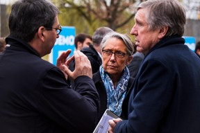 Jean Rottner (président de la région Grand Est), Élisabeth Borne (ministre française chargée des Transports) et François Bausch (ministre de la Mobilité et des Travaux publics) ((Photo: Nader Ghavami))