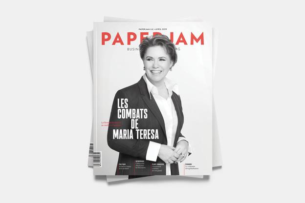 En couverture de cette édition d'avril de Paperjam, Maria Teresa de Luxembourg. La Grande-Duchesse se confie sur les combats qu'elle mène. (Photo: Maison Moderne)