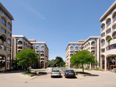 Le parc d'affaires EBBC se déploie sur environ 26.000m2. Déjà propriétaire de trois immeubles, Leasinvest Real Estate en a acquis deux autres. (Photo: Leasinvest Real Estate)