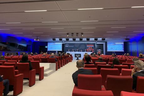 La matinée de jeudi au congrès de l'UIA était consacrée à trois panels sur des sujets liés à l'innovation dans le droit. (Photo: Paperjam)