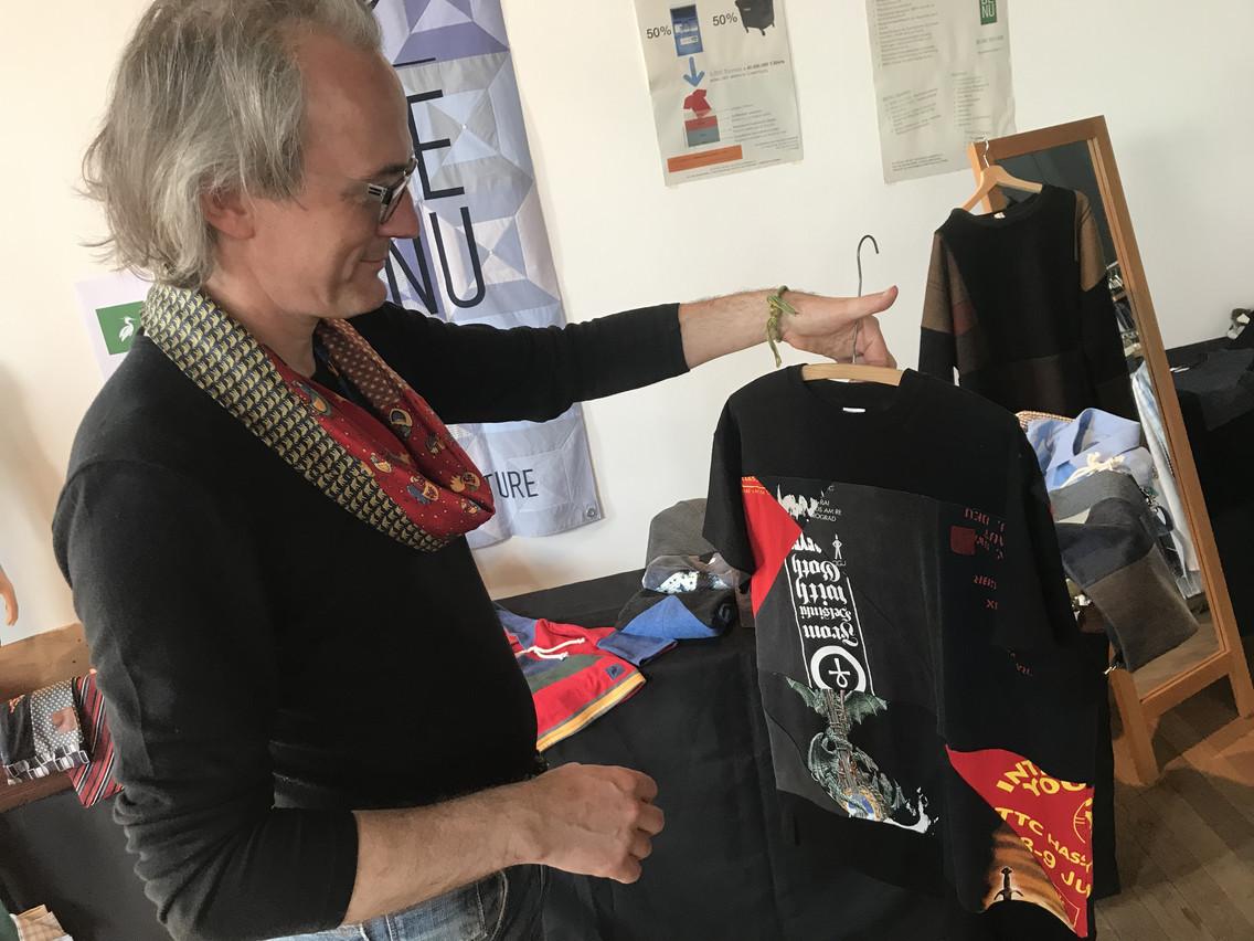 Présent sur le salon Fair Fashion Days, Georges Kieffer est le fondateur de Benu Couture à Esch. (Photo: Paperjam)
