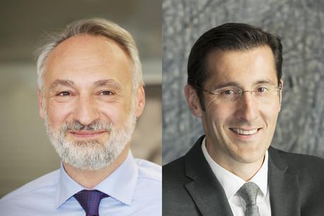 Enrico Mela (à gauche), Managing director, Fuchs Asset Management et Stéphane Pardini, Head of private banking et deputy CEO, Edmond de Rotschild Europe (Photo: Maison Moderne)