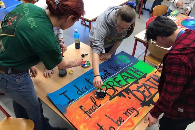 À l'appel de l'élève suédoise Greta Thunberg et du mouvement international «Global Strike For Future»,des manifestations de jeunes sont prévues à travers le monde ce vendredi. Notamment au Luxembourg. (Photo:Élise Darras)