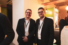 François Henryon (CRH-Lux) et Marc Vandenhoeke (Spuerkess) ((Photo: Patricia Pitsch / Maison Moderne))