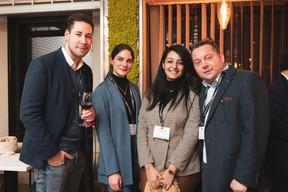 Lucien Douwes (Immopartner Luxembourg), Cypris Brach et Yassmine Myami (RH Expert) et Arno Tijink (Immopartner Luxembourg) ((Photo: Patricia Pitsch / Maison Moderne))