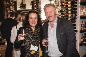 Odile Pugin et Laurent Gerard (La Mondiale Europartner) ((Photo: Jan Hanrion/Maison Moderne))