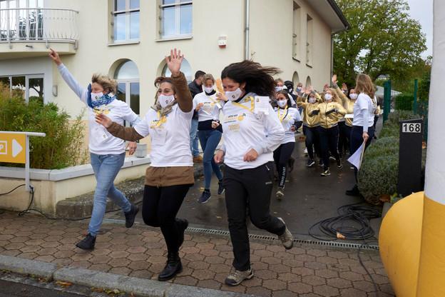 Plus de 550 participants ont pris le départ de la 3ème édition de la course solidaire Lëtz Go Gold. (Photo: Danielle Barbieux)
