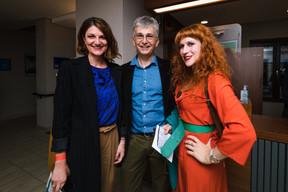 Diane Tobes (kulturLX), Mirka Borchardt (Maskénada) ((Photo: Nader Ghavami/Maison Moderne))