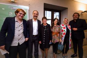 Josée Lorsché (Déi Gréng), Semiray Ahmedova (Déi Gréng), Djuna Bernard (Déi Gréng) et Guy Daleiden (Film Fund Luxembourg) ((Photo: Nader Ghavami/Maison Moderne))