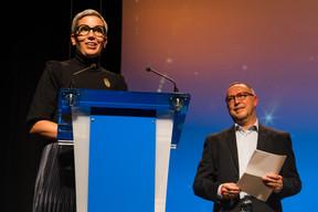 Sam Tanson (Ministre de la Culture), Claude Mangen (Theater Federatioun) ((Photo: Nader Ghavami/Maison Moderne))