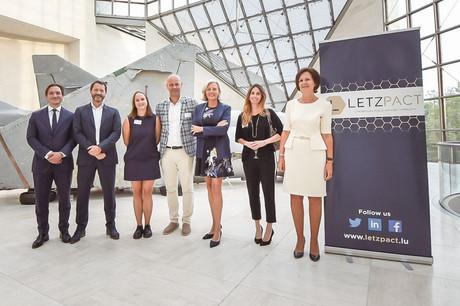 Aux côtés deJean-PaulOlinger, directeur de l'UEL et de l'INDR, figurent les membres du conseil d'administration de Letzpact, à savoirGerryWagner, FrédériqueDell, Mark De Zutter, SoniaFranck, MathildeBrasseur et LaurencePonchaut. (Photo: Letzpact)