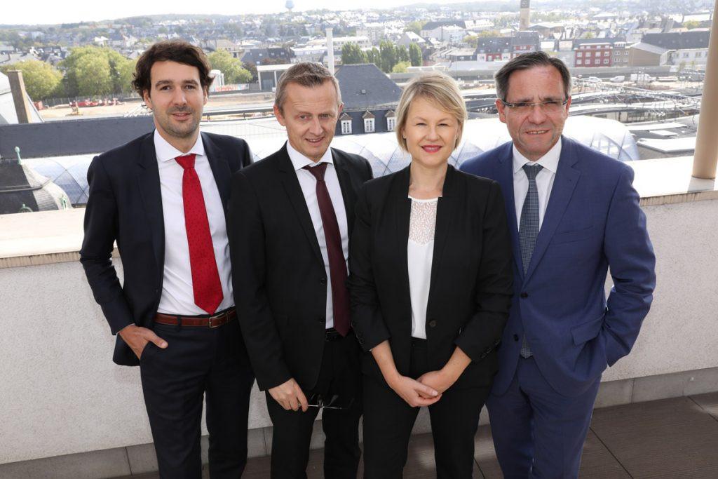 De gauche à droite: François MAYET (Directeur – Family Office & Development), Emmanuel VOIRIN (Responsable administratif et comptable), Anne WALTER (Directrice), Emmanuel Lebeau (Managing partner). (Photo: DR)