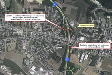 La vitesse maximale autorisée sera de 70km/h dans les deux directions entre Helfenterbruck et Bridel. (Photo: Administration des ponts et chaussées)