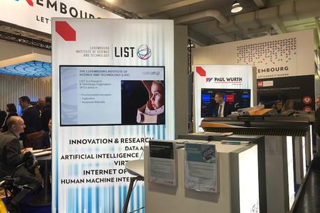 Le stand luxembourgeoisest dédié à la recherche, à l'innovation, au développement technologique et au transfert de technologies. (Photo: Paperjam)
