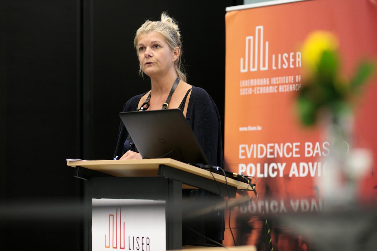 Le directeur général du Liser, Aline Muller, revendique un institut tourné vers la société et l'action publique comme privée. (Photo : Matic Zorman / Maison Moderne)