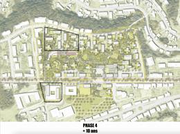 Développement à la phase 4 (+10 ans) ((Illustration:Temperaturas ExtremasArquitectos))