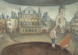 Exemple d'illustration réalisée par Marie-IsabelleCallier. ((Illustration: Marie-Isabelle Callier pour l'association des Amis des musées))