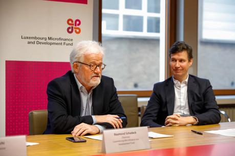 Le président du LMDF, Raymond Schadeck, et le directeur du fonds, Kaspar Wansleben, célébraient jeudi l'anniversaire du LMDF, 10ans après sa naissance. (Photo: Romain Gamba/Maison Moderne)