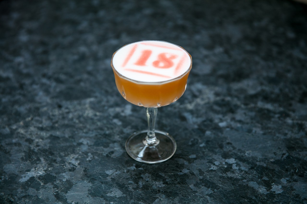 Yolan Pinard's 1867 cocktail, inspired by Luxembourg produce, but also by the tropics  Photo: Romain Gamba / Maison Moderne
