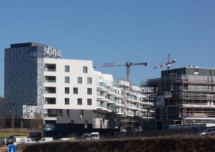 Le PAP Quartier du Kiem Ouest est notamment concerné pas ces appartements locatifs abordables. (Photo: Fonds Kirchberg)