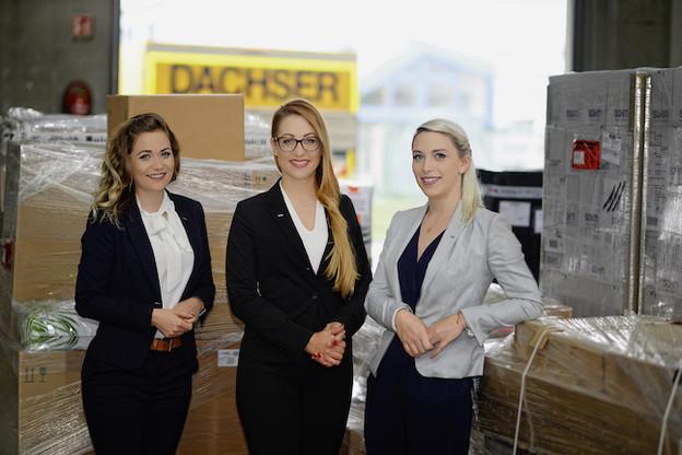 Nicole Engelbert, Janine Weber et Laura Waigel, un trio inédit de femmes pour diriger une entreprise de logistique, Dachser Luxembourg. (Photo: Dachser Luxembourg)