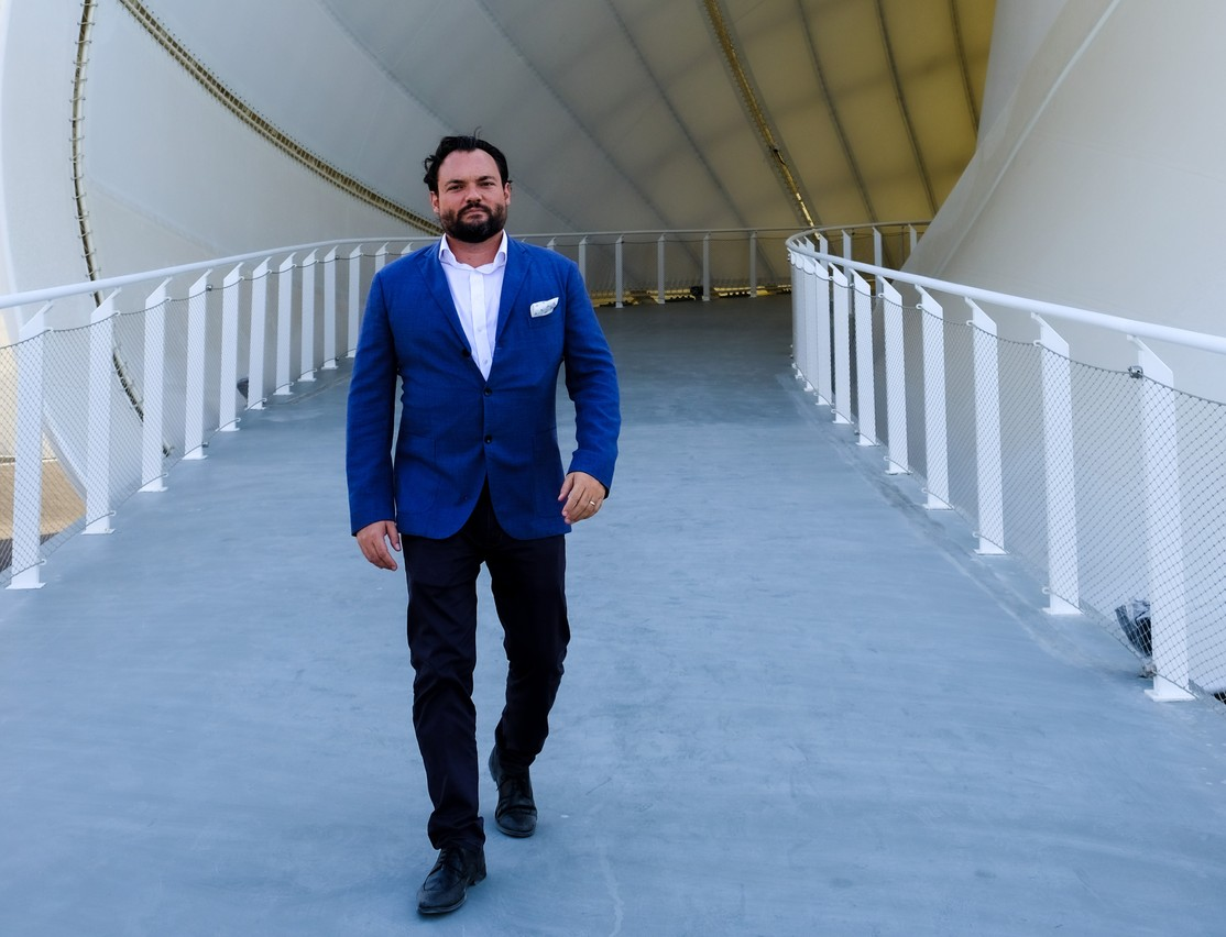 Loïc Bertoli, pictured here at the Expo 2020 Luxembourg pavilion, has been in the United Arab Emirates heading up the Luxembourg Trade and Investment Office in Abu Dhabi since 2016 Pauline Weis