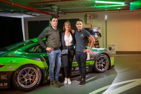 Carlos Rivas, Miriam Eisenmenger (Losch) et Dylan Pereira (Pilote automobile) ((Photo: Johannes Nollmeyer))