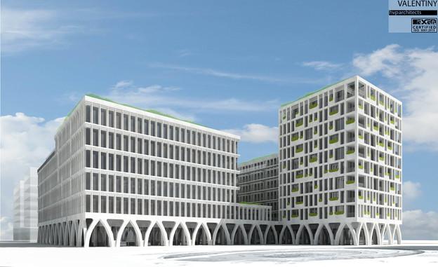 Le lot 44 rassemble du logement, des bureaux et des commerces. (Illustration: Valentiny HVP Architects)
