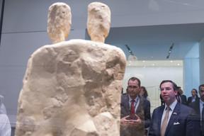 Manuel Rabaté, directeur du Louvre Abu Dhabi, et S.A.R. le Grand-Duc héritier. ((Photo: SIP/Jean-Christophe Verhaegen))