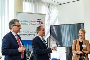 Roman Lewszyk (Moventum), Artur Sosna (LPCC) et Pia Libicka-Regulska (Ambassade de Pologne au Luxembourg) ((Photo: Ma Zagrzejewska))