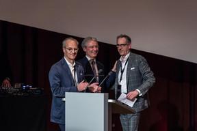 Hans Jürgen Schmitz (Mangrove Capital Partners), Paul Junck (Directeur de la LPEA) et Jérôme Wittamer (Expon Capital) ((Photo: Mike Zenari))