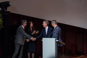 Jérôme Wittamer (Expon Capital), Rajaa Mekouar-Schneider (Présidente de la LPEA), Paul Junck (Directeur de la LPEA) et Hans Jürgen Schmitz (Mangrove Capital Partners) ((Photo: Mike Zenari))