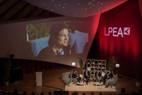 S.A.R. le Prince Max du Liechtenstein, Dr. Serge Younes (Investindustrial) et Cornelia Gomez (PAI Partners), Nino Tronchetti Provera (Ambienta)et Bernhard Eikenberg (Bamboo Capital Partners) ((Photo: Mike Zenari))