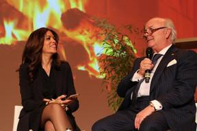 Rajaa Mekouar-Schneider ( Présidente de la LPEA ) et Norbert Becker ((Photo: Nader Ghavami))
