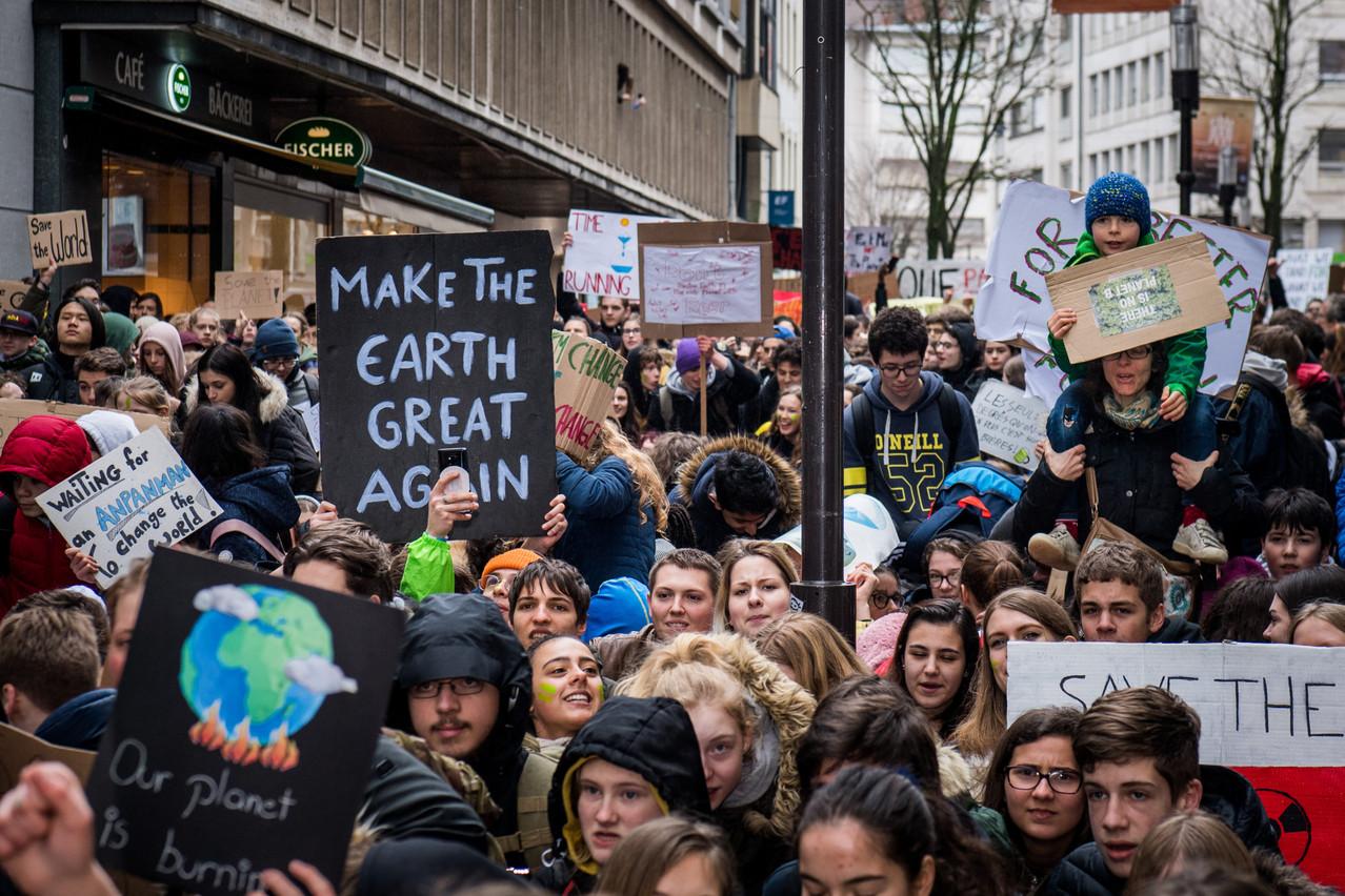 Les jeunes Luxembourgeois sont descendus dans la rue pour le climat. Les acteurs de la finance doivent désormais faire leur part de travail. (Photo: Nader Ghavami/Archives Maison Moderne)