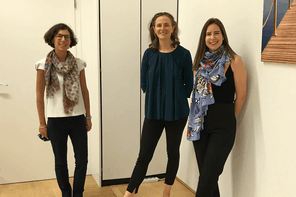 Nicoletta Centofanti, Claire de Boursetty et Maria Tapa, le trio aux commandes de la LSFI. (Photo: DR)