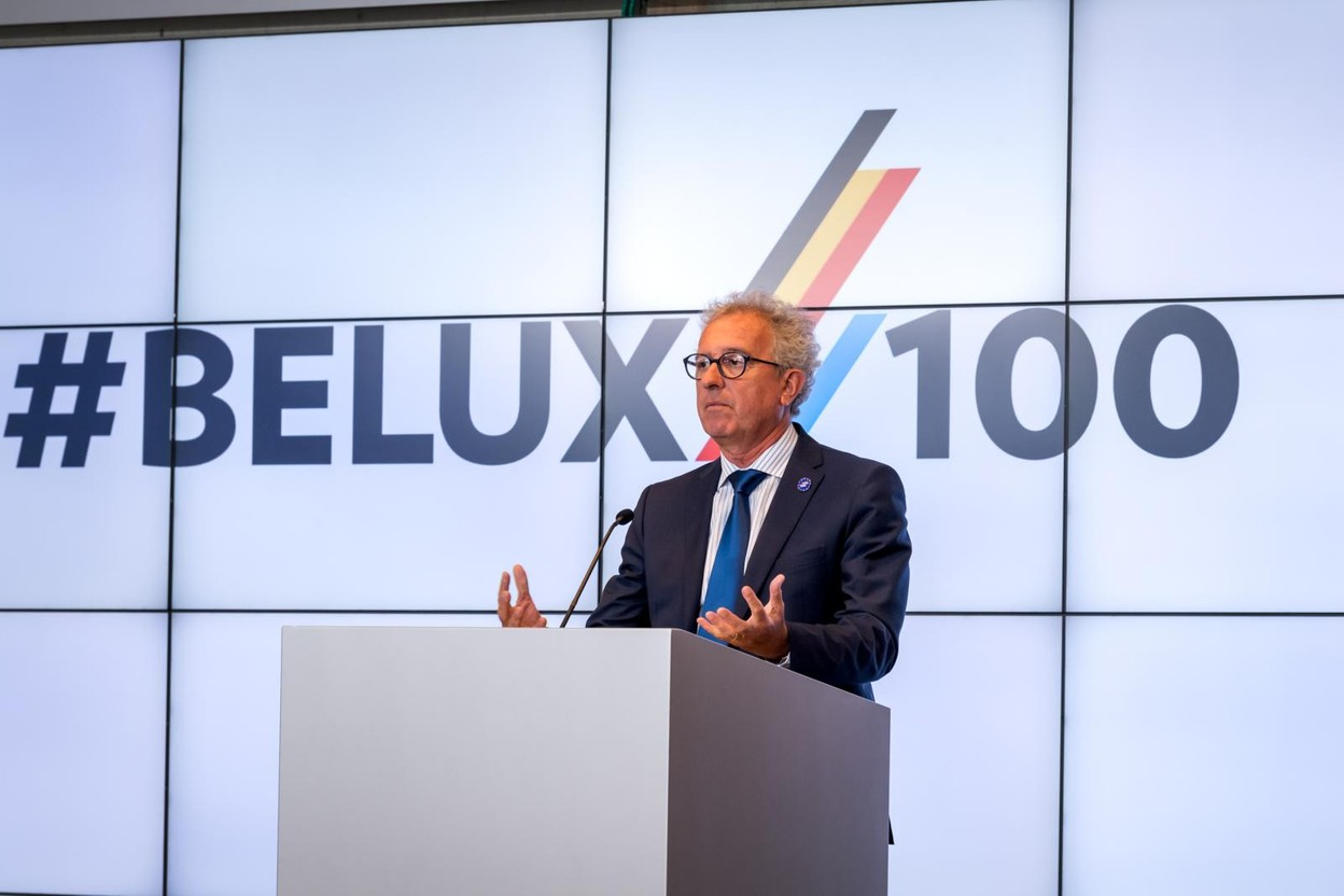 Pierre Gramegna, the finance minister, says a sustainability bond market is emerging in Luxembourg. Library picture: Pierre Gramegna is seen speaking at the Belux summit, 31 August 2021. Photo: Nader Ghavami