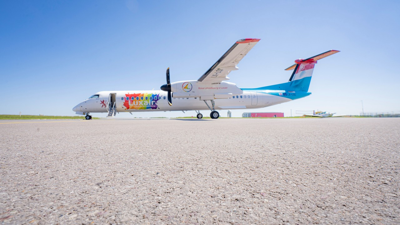 A Luxair aircraft carries the Pride colours Photo: Luxair