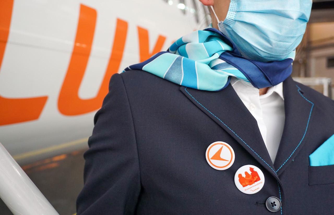 La compagnie lance également une campagne sur les réseaux sociaux sous les hashtags #LuxairStandsUp et #Orangezlemonde.     (Photo: Luxair)