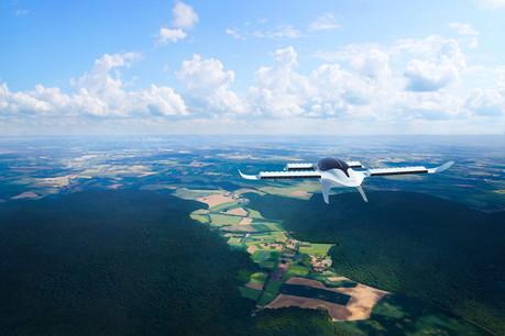Le Lilium Jet, à sept places, est totalement électrique. Il décolle et atterrit à la verticale, grâce à son système de propulsion orientable. (Photo: Lilium/Shutterstock)