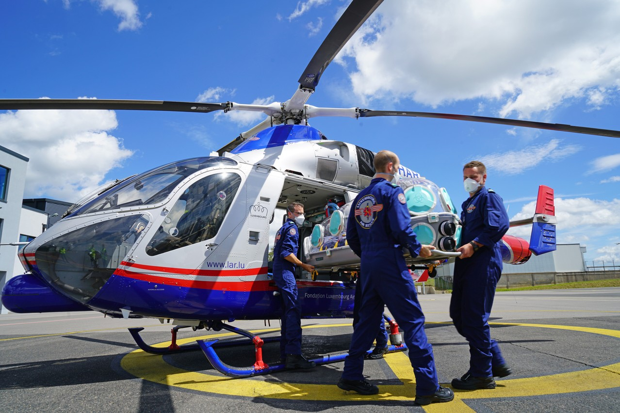 C'est la première fois qu'une entité luxembourgeoise est récompensée par le prix De Gaulle-Adenauer.                      (Photo: Luxembourg Air Rescue)