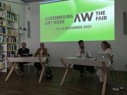 La nouvelle édition de la Luxembourg Art Week 2021 a été présentée au Casino Luxembourg, en présence de la ministre de la Culture, SamTanson. (Photo: Paperjam)