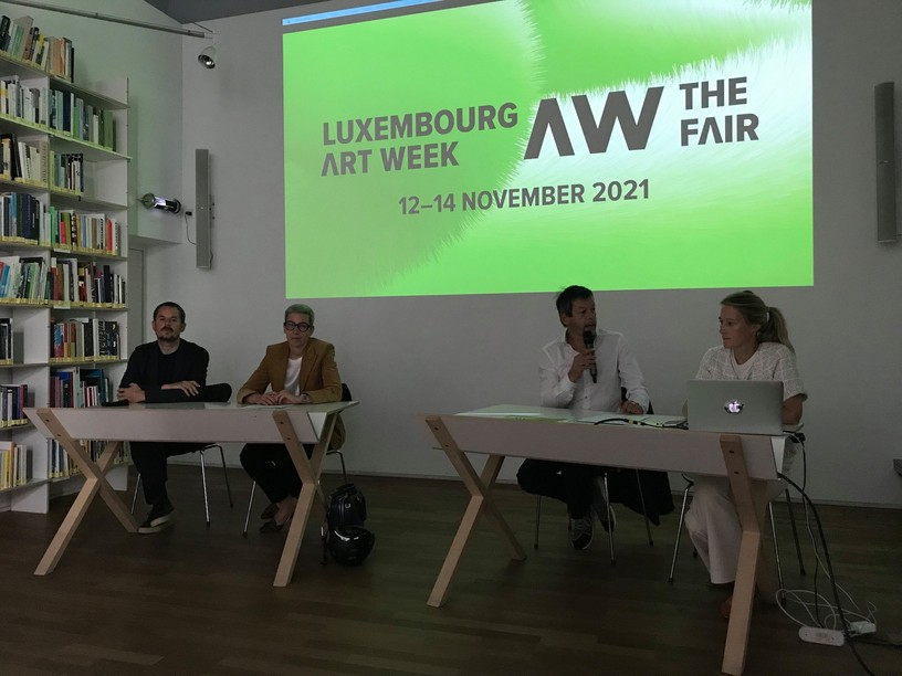 The new edition of Luxembourg Art Week 2021 was presented at the Casino Luxembourg, in the presence of the Minister of Culture, Sam Tanson. (Photo: Paperjam)