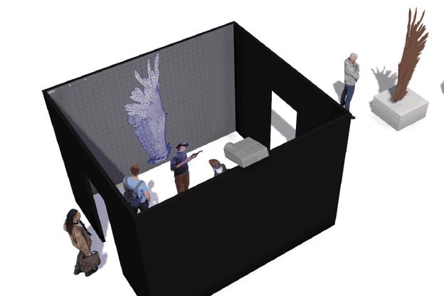 Les outils numériques permettent de créer de nouvelles œuvres, ce qui sera présenté sur le stand de CGLux à l'occasion de Luxembourg Art Week. (Visuel: CGLux)
