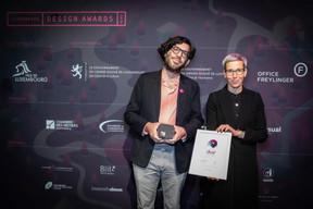 Michel Welfringer et Sam Tanson (Ministre de la Culture) ((Photo: Blitz Agency))