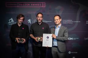 Samuel Reinard (Ryvage); Jeff Poitiers (Cropmark) et Olivier Laidebeur (Office Freylinger) ((Photo: Blitz Agency))