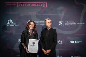 Flavia Carbonetti (Einfühlung) et Sam Tanson (Ministre de la Culture) ((Photo: Blitz Agency))