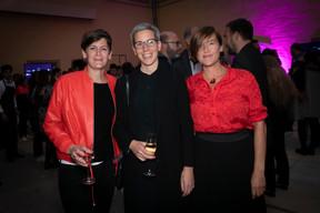 Joanne Goebbels (LSAP), Sam Tanson (Ministre de la Culture) et Frédérique Buck ((Photo: Blitz Agency))