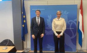Ce lundi 18 octobre, la ministre de la Justice, SamTanson, a reçu Casey Mace, chargé d'affaires à l'ambassade des États-Unis au Luxembourg. Ce dernier lui a officiellement présenté le rapport d'évaluation du Grand-Duché pour l'année2020. (Photo: ministère de la Justice)