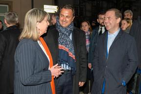 Lydie Polfer, bourgmestre de la Ville de Luxembourg, Xavier Bettel, Premier ministre et Dimitri Medvedev, Premier ministre de la fédération de Russie. ((Photo: SIP / Emmanuel Claude))